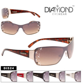 Diamond™ Eyewear Wholesale Sunglasses - Style #DI524 (Assorted Colors) (12 pcs.)
