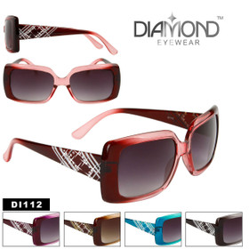 Rhinestone Bulk Sunglasses Diamond™ Eyewear - Style #DI112 (Assorted Colors) (12 pcs.)
