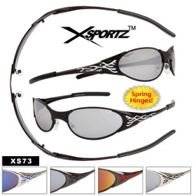 Wholesale Xsportz™ Sunglasses - Style #XS73 Spring Hinges! (Assorted Colors) (12 pcs.)