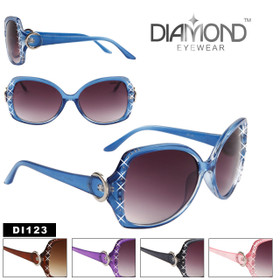 Women's Rhinestone Sunglasses by the Dozen DI123 (Assorted Colors) (12 pcs.)