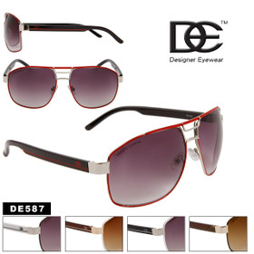 DE™ Wholesale Aviator Sunglasses - Style # DE587 (Assorted Colors) (12 pcs.)