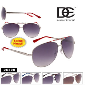 DE™ Designer Eyewear DE590 Metal Aviators (Assorted Colors) (12 pcs.)