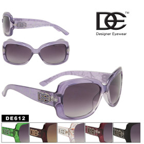DE Designer Eyewear Women's Fashion Sunglasses DE612 (Assorted Colors) (12 pcs.)