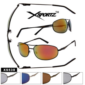 Xsportz Square Aviator Style XS538 (Assorted Colors) (12 pcs.)