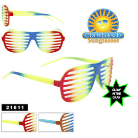 Shutter Shades ~ Glow in the Dark Frames 21611 (Assorted Colors) (12 pcs.)