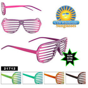 Glow in the Dark Blingy Shutter Shades!
