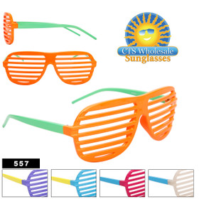 Wholesale Shutter Shades 557 (Assorted Colors) (12 pcs.)