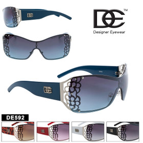 DE™ Women's Fashion Sunglasses - Style # DE592 (Assorted Colors) (12 pcs.)