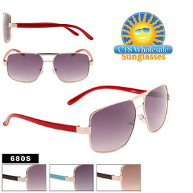 Aviator Sunglasses by the Dozen - Style #680S (Assorted Colors) (12 pcs.)