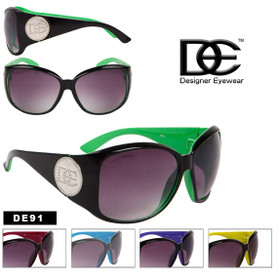 DE Designer Eyewear Oversized Sunglasses - Style #DE91 (Assorted Colors) (12 pcs.)