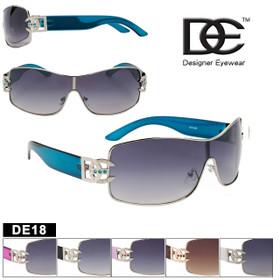 DE™ Designer Eyewear Sunglasses Wholesale - Style #DE18 (Assorted Colors) (12 pcs.)