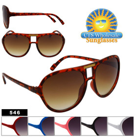 Wholesale Sunglasses 546 (Assorted Colors) (12 pcs.)