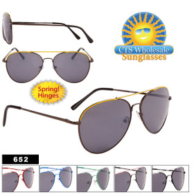Wholesale Aviators - Style #652 Spring Hinges