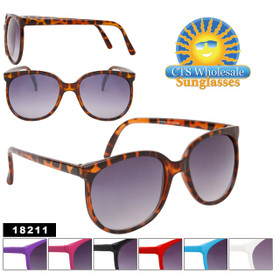Bulk Fashion Sunglasses - Style #18211 (Assorted Colors) (12 pcs.)