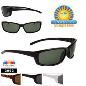 Polarized Sports Sunglasses 2092 (Assorted Colors) (12 pcs.)