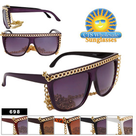 Lady Gaga Fashion Wholesale Sunglasses 698 (Assorted Colors) (12 pcs.)