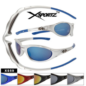 Xsportz Brand Sunglasses XS59 Popular Sport Style (Assorted Colors) (12 pcs.)