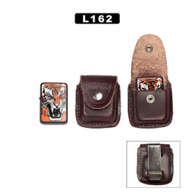 Leather Lighter Pouch (Brown) ~ LIGHTERS NOT INCLUDED L162 (10 pcs.)