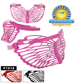 "Party Glasses ""Butterflies""  ~ P1018 (12 pcs.) (Assorted Colors)"