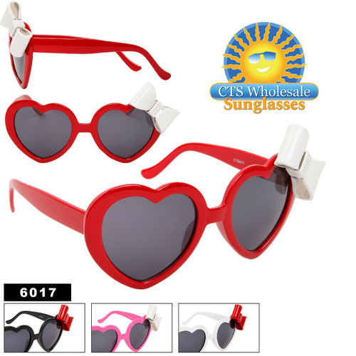 Heart Shaped Sunglasses with Bows 6017