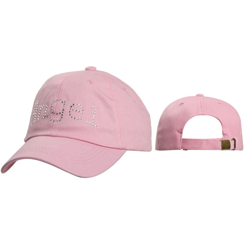 Women's Caps Wholesale C138 ~ Angel in Rhinestones ~ Pink