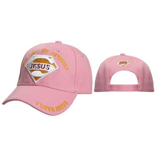Wholesale Christian Baseball Cap ~ Jesus Christ The Superstar ~ Pink