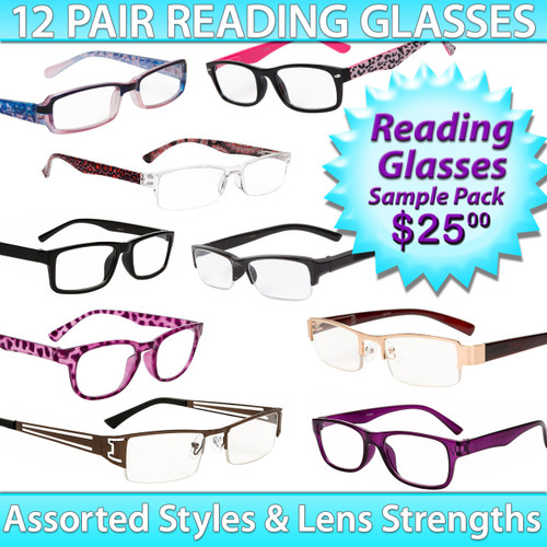 Reading Glasses Package Deal ~ SPRD1 (12 pcs.) Assorted Styles
