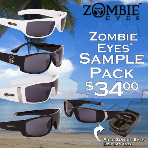 Sample Pack 12 Pair Assorted Zombie Eyes™ Sunglasses SPA-ZE