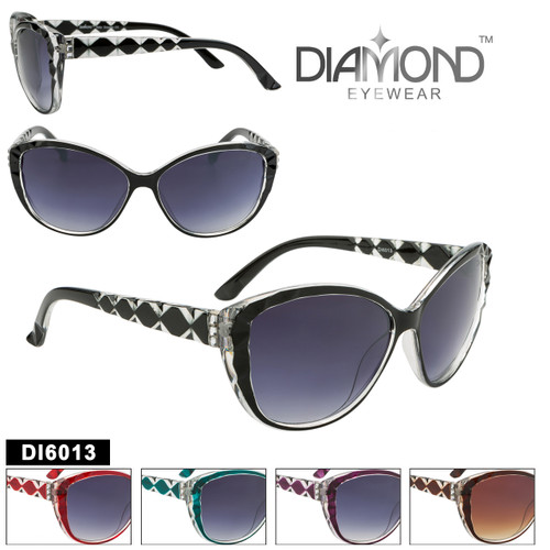 Diamond™ Eyewear Cat Eye Sunglasses with Rhinestones DI6013