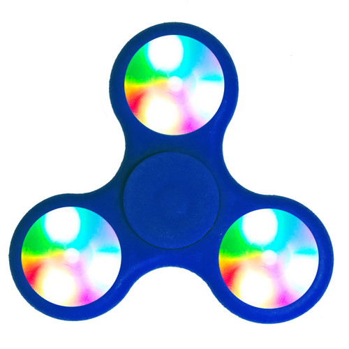 Blue LED Fidget Spinners!