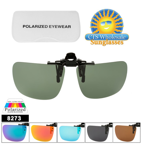 Polarized Clip Ons Flip-up Style 8273