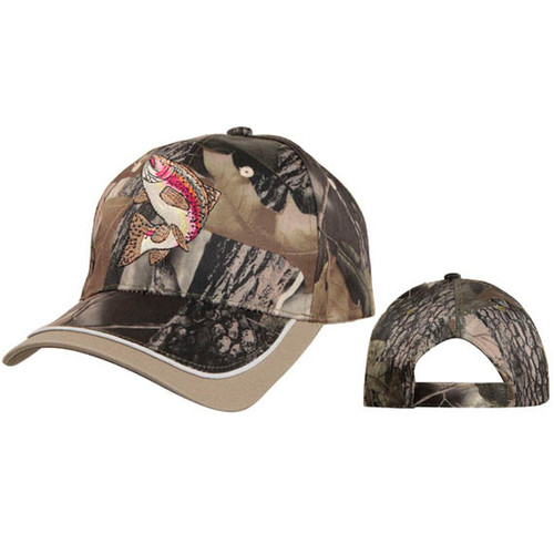 Caps Wholesale C5165 (1 pc.) Salmon Fish on Camo
