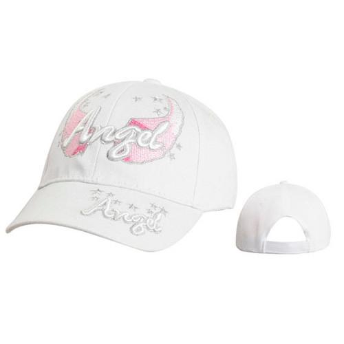 "White ""Angel"" Wholesale Juniors' Baseball Hat"