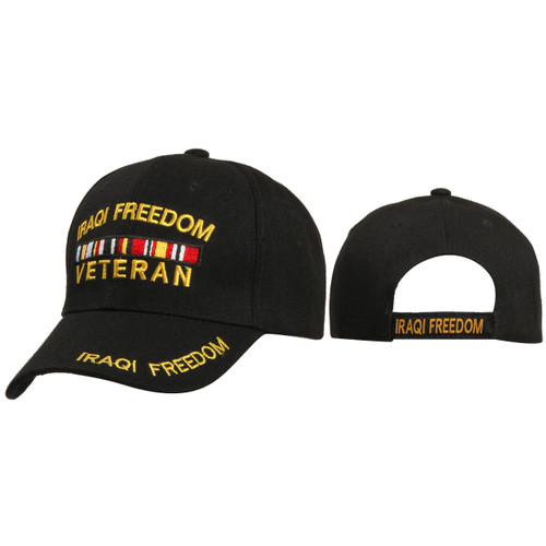 Veterans Hats Wholesale C168 ~ IRAQI Freedom Veteran ~ Black