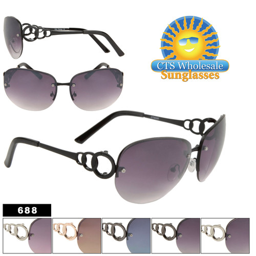 Ladies Fashion Aviator Sunglasses 688