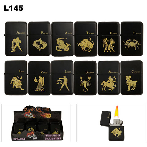 Wholesale Lighters Assorted Zodiac Symbols