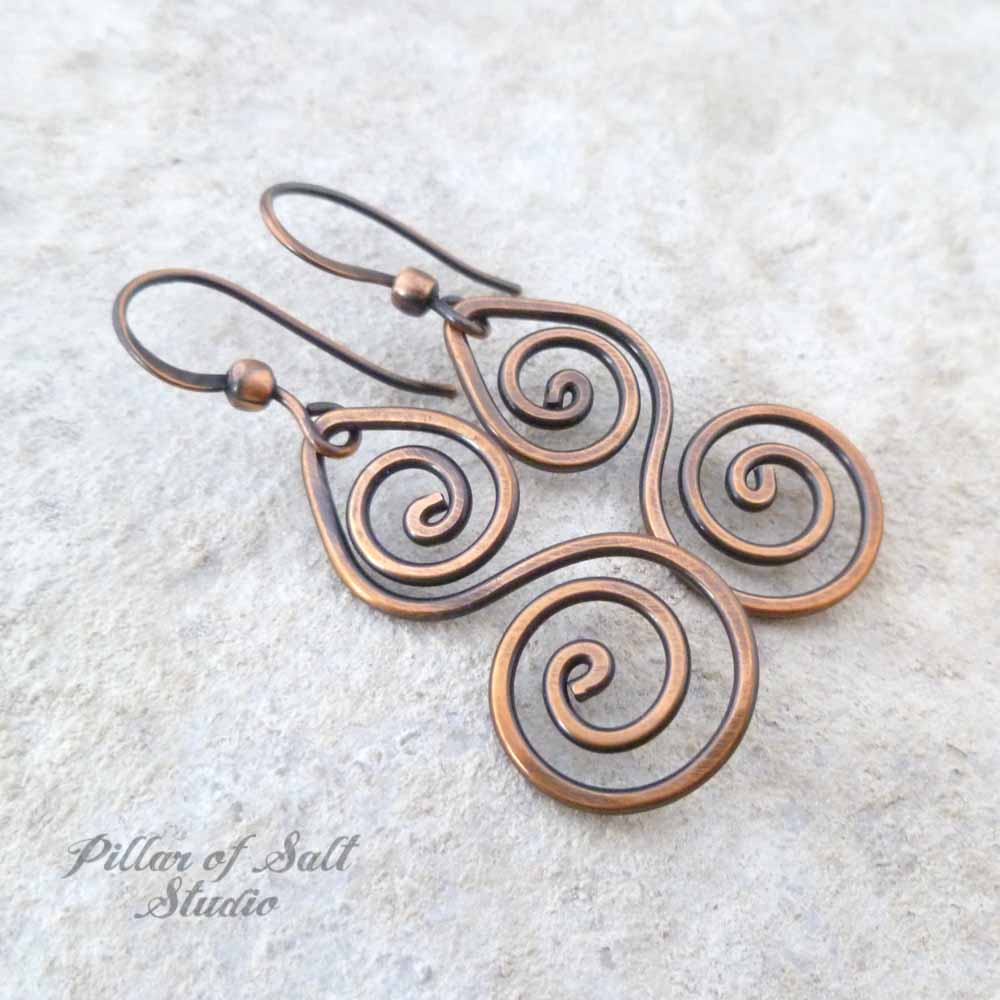 made silver daring designs earrings custom unusual by hand dosseydesigns wire long dossey
