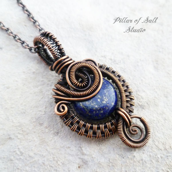 silver wrap font natural lazuli en product round lapis necklace sterling stones dragon pendant b