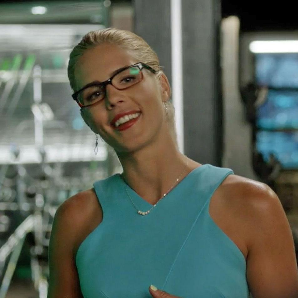 Pillar of Salt Studio earrings worn by Felicity Smoak on Arrow