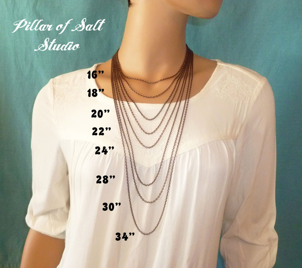 choose your length of Solid copper chain for your necklace