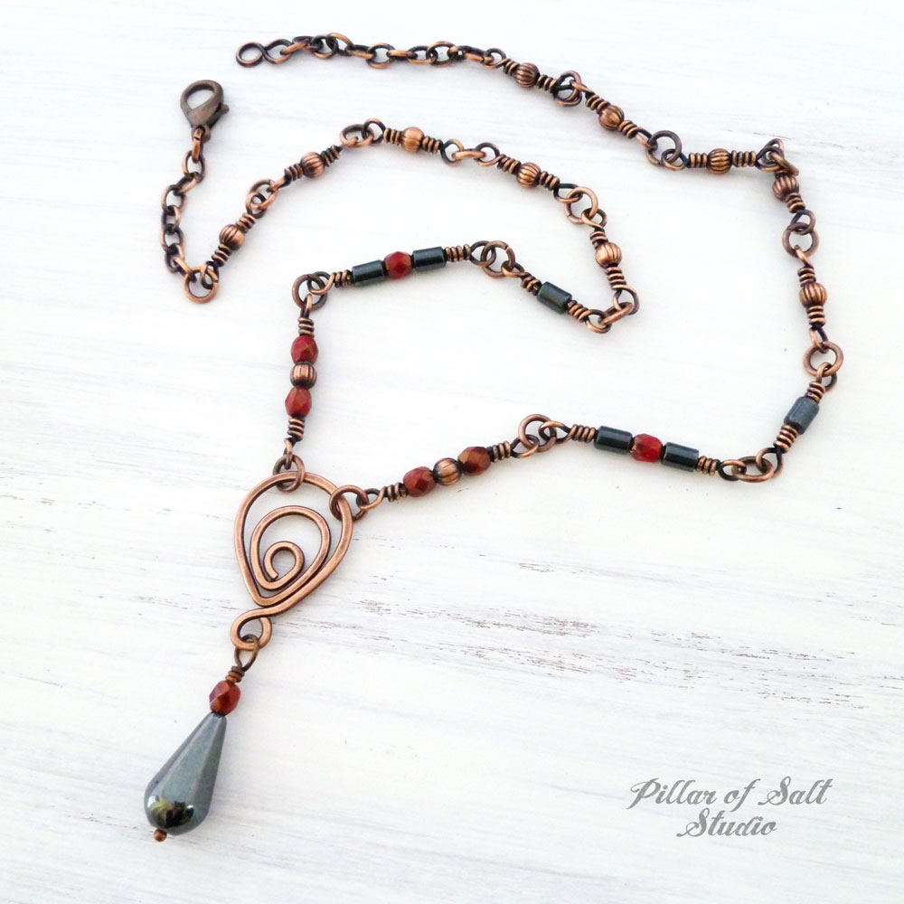 Copper wire wrapped necklace as seen on The Vampire Diaries by ...