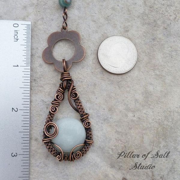 wire wrapped necklace worn on TV Cedar Cove by Pillar of Salt Studio