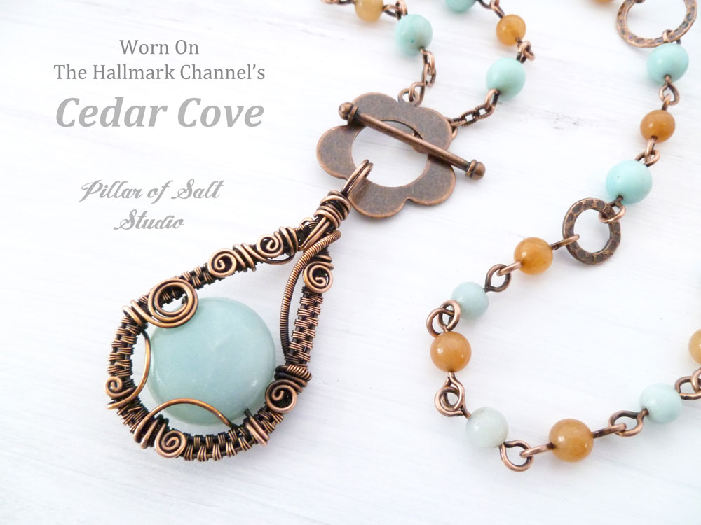 Copper Wire wrapped necklace as seen on Cedar Cove TV / Pillar of ...