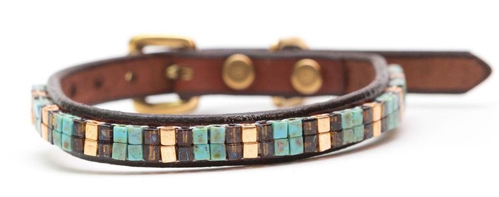 Aztec Gold Pet Collar