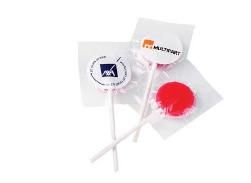 Branded Flat Lollipops