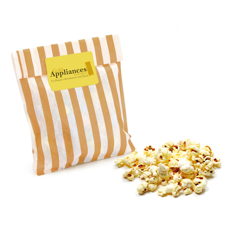 Branded Striped Candy Bag with Sweet or Salted Popcorn