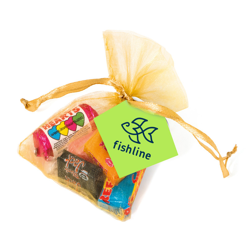 Retro Sweets Organza Bag With Branded Tag