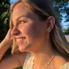 14kt Rose Vine Hoop Earrings