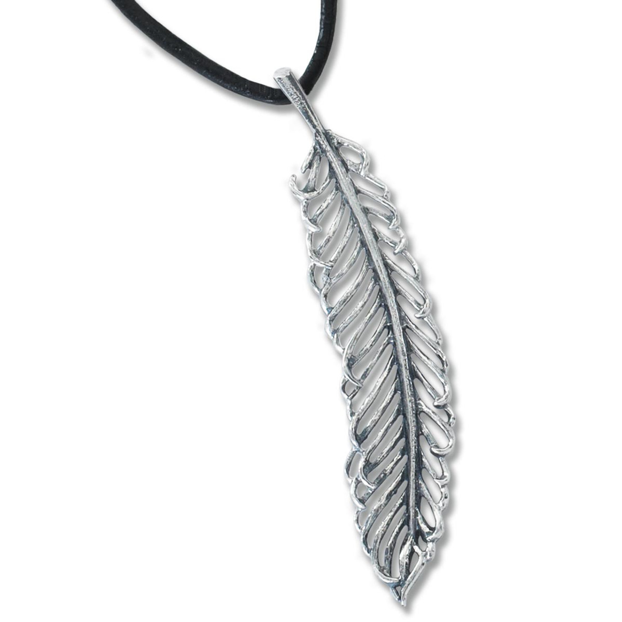 Sterling silver filigree feather pendant jh breakell sterling silver filigree feather pendant aloadofball Images