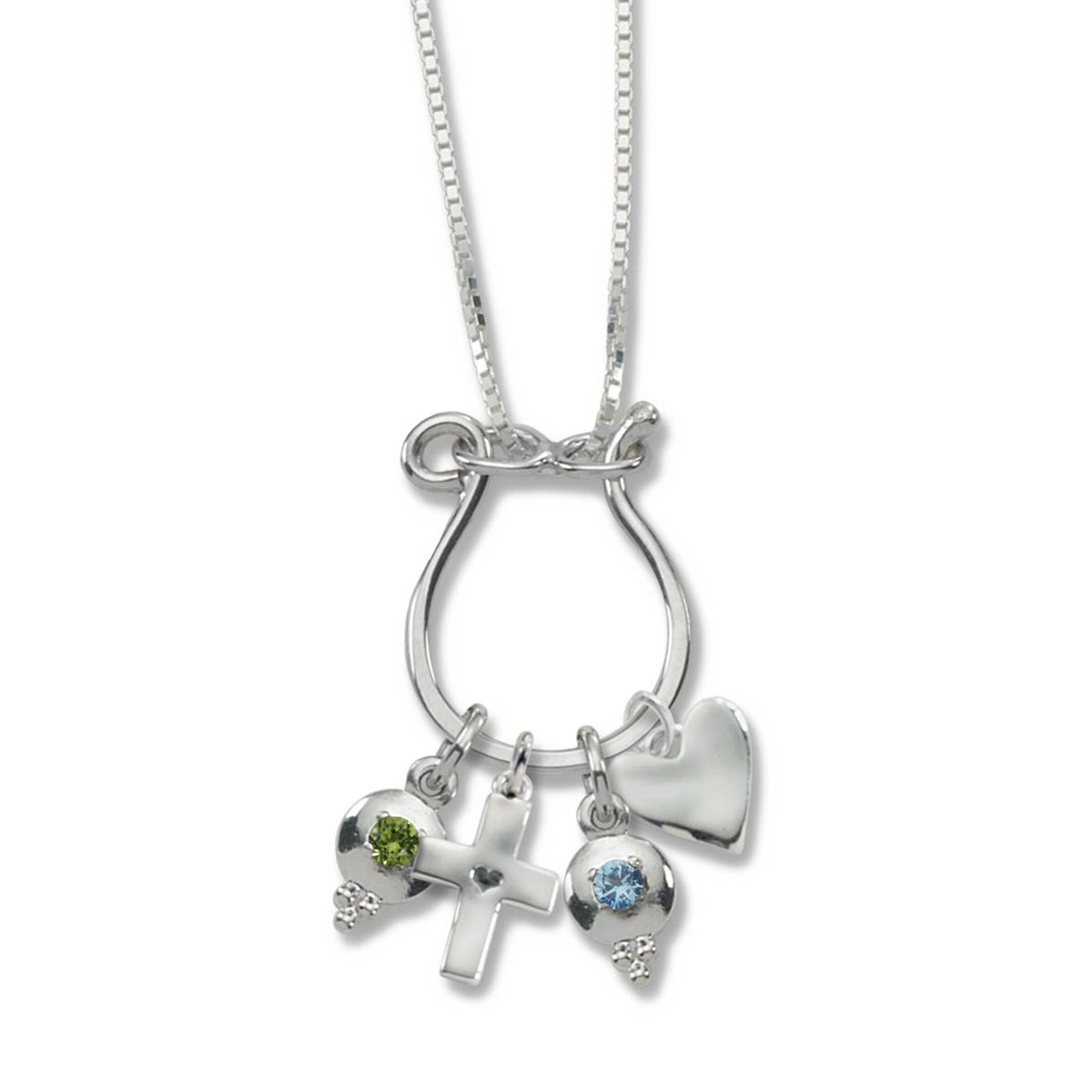 Sterling silver hand forged charm holder necklace jh breakell sterling silver hand forged charm holder necklace mozeypictures Gallery